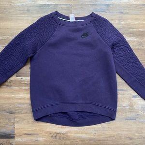 Nike Purple Sweatshirt Texture Crew Medium Long